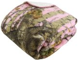 The Woods Regal Comfort Sherpa Luxury Throw Blanket, Camo, Pink