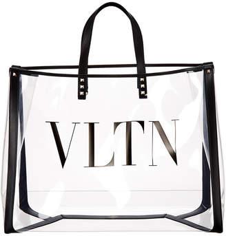 Valentino Plexi Logo Transparent Tote Bag