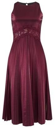 Dorothy Perkins Womens Little Mistress Red Lace Trim Midi Dress, Red