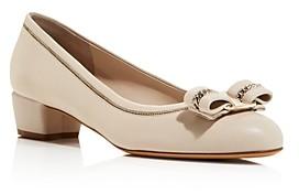 Salvatore Ferragamo Women's Vara Low-Heel Pumps
