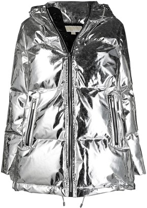 MICHAEL Michael Kors Metallic Puffer Hooded Coat