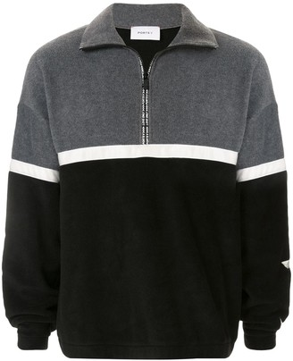 Ports V Oversized Funnel-Neck Sweatshirt