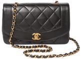Chanel Vintage Black Lambskin Border Flap Small