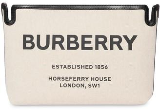 Burberry Medium Horseferry Print Canvas Clutch