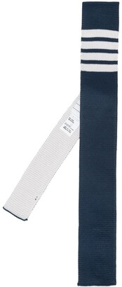 Thom Browne 4-bar Silk Knit Tie