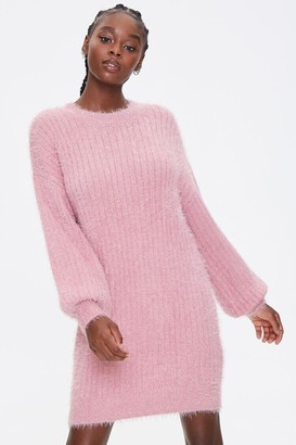 Forever 21 Fuzzy Knit Sweater Dress
