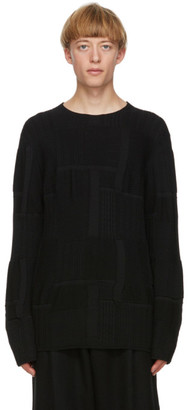 Comme des Garcons Black Patterned Worsted Yarn Sweater