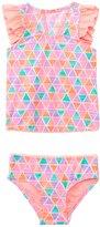 Hula Star Girls' Texture Pyramids Tankini Two Piece Set (2yrs6yrs) - 8138136