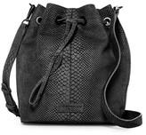 Liebeskind Berlin Loki Snake Embossed Leather Drawstring Bucket Bag