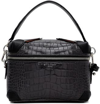 Givenchy Grey Croc Box Cross Body Bag