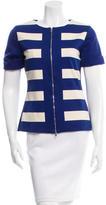 Max Mara Striped Short Sleeve Jacket w/ Tags