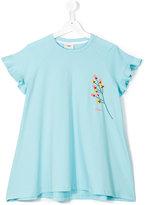 Fendi flared T-shirt - kids - Cotton/Spandex/Elastane - 14 yrs
