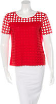 Tory Burch Crochet Short Sleeve Top