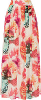 Alice + Olivia Gemna floral-print cotton and silk-blend maxi skirt