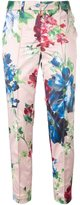 Blumarine floral print cropped trousers