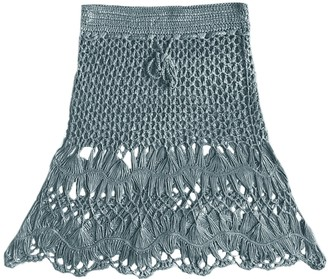 Goodnight Macaroon 'Natalie' Tassels Knitted Cover-up Skirt (7 Photos)