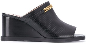Bally Open Toe Wedge Mules