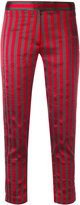 Ann Demeulemeester cropped stripe trousers - women - Silk/Cotton/Polyester/Rayon - 36