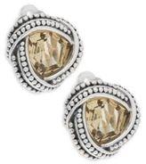 Stephen Dweck Yellow Quartz & Sterling Silver Stud Earrings