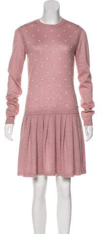 Chanel Embellished Knit Dress