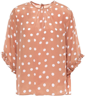 By Ti Mo Polka-dot Voile Blouse