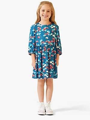 Jigsaw Girls' Flower Bud Dress, Teal