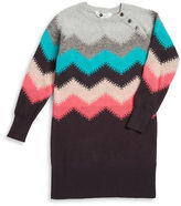 Petit Lem Girls 2-6x Zigzag Sweater Dress