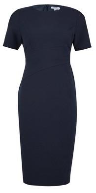 Dorothy Perkins Womens Petite Navy Short Sleeve Bodycon Dress