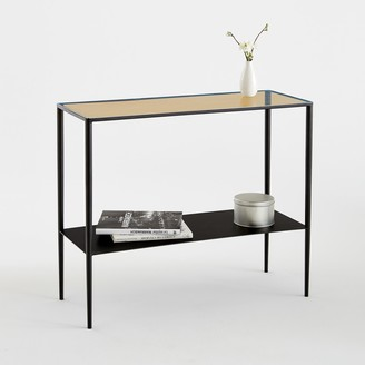 La Redoute La Razzi Metal and Glass Console Table