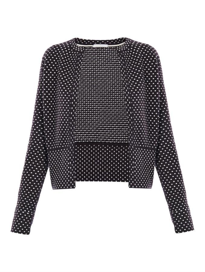Chloé Polka-dot cashmere and wool-blend cardigan
