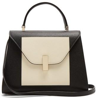 Valextra Iside Medium Grained-leather Bag - White Black