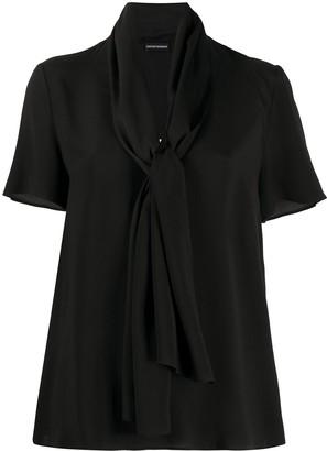 Emporio Armani tied neck blouse