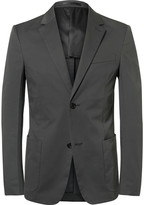 Prada Grey Slim-Fit Stretch-Cotton Twill Blazer