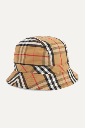 Burberry Checked Cotton-canvas Bucket Hat - Neutral