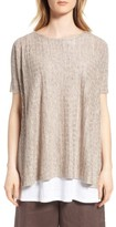 Eileen Fisher Women's Linen Side Slit Sweater