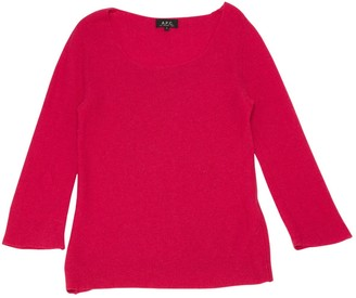 A.P.C. Pink Cashmere Knitwear for Women