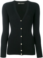 Versace ribbed cardigan - women - Polyester/Wool - 42