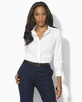 "Lauren Ralph Lauren Priya"" Three-Quarter Sleeve Non-Iron Shirt"