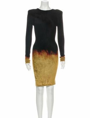 Balmain Bateau Neckline Mini Dress w/ Tags Black