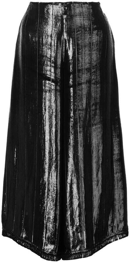 Yigal Azrouel Liquid velvet culottes
