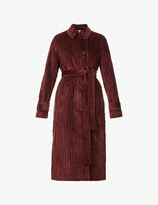 Thumbnail for your product : VVB Belted cotton-velvet trench coat