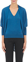 Lanvin WOMEN'S CASHMERE-BLEND COCOON CARDIGAN-BLUE SIZE S
