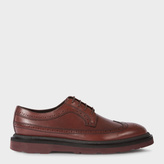 Paul Smith Men's Bordeaux Leather 'Grand' Brogues