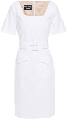 Boutique Moschino Belted Cotton-blend Dress