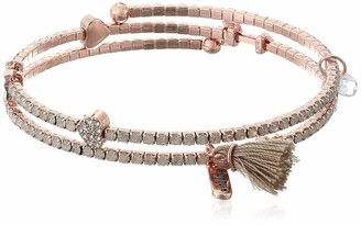 lonna & lilly Women's Heart And Arrow Coil Wrap Bracelet