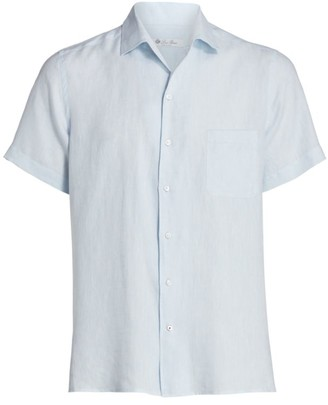 Loro Piana Linen Short-Sleeve Sport Shirt