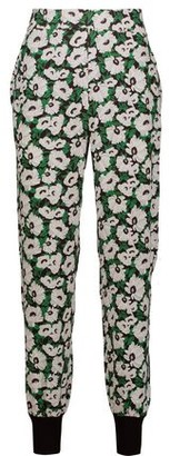 Stella McCartney Julia Floral-print Stretch-cady Tapered Pants