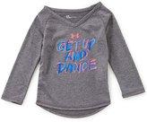 Under Armour Baby Girls 12-24 Months Get Up And Dance Raglan-Sleeve Tee