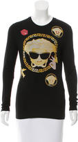 Versace Long Sleeve Emoji Medusa Top