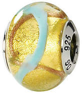 Murano Prerogatives Sterling Yellow & Blue Italian Glass Bead